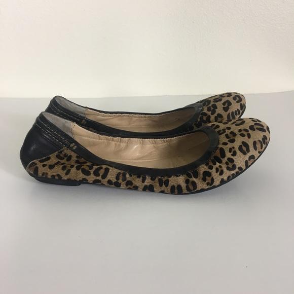 Halogen Leopard Print Real Calf Hair Flats